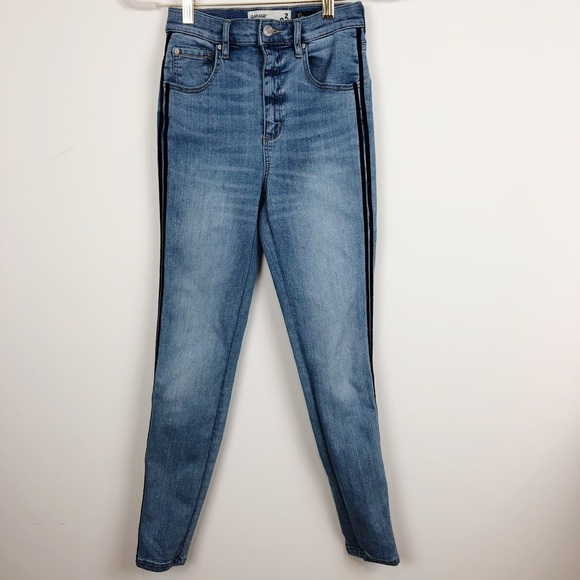 Garage Denim - GARAGE HIGH WAIST SIDE STRIPE SKINNY JEANS SZ 3